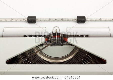 Closeup Of Typewriter Typing