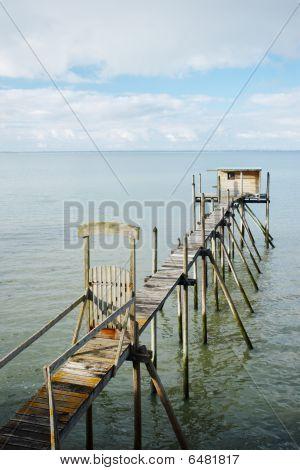 Wooden fisherman hut