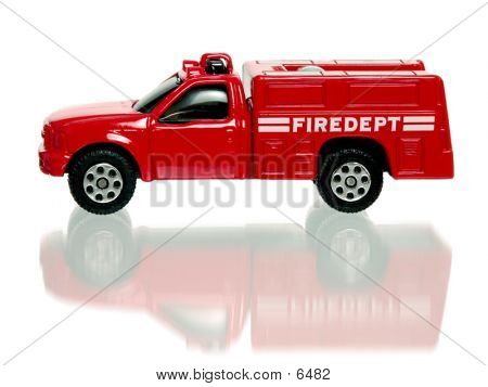 Toy Fire Truck Side View