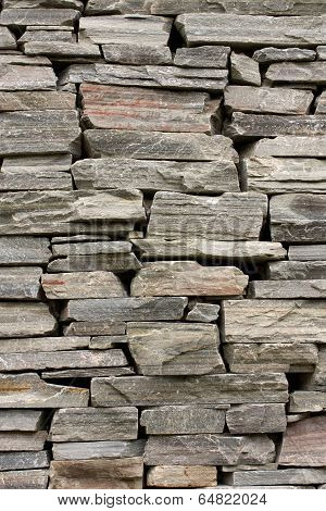 Stone Wall Constructed From Raw Stones