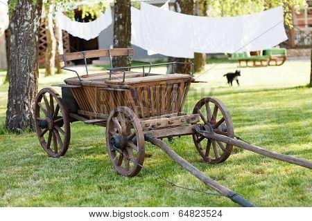 old oxen cart