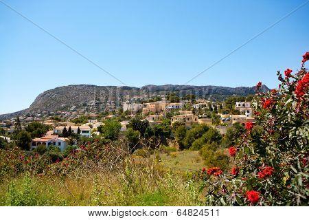 Calpe in Alicante Spain at Valencian Community at Mediterranean sea shore