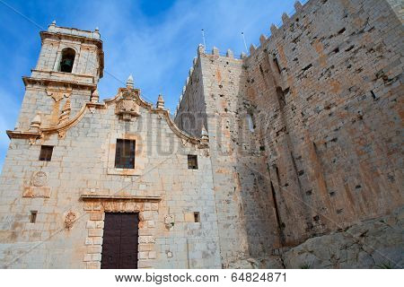 Peniscola virgen de Santa Maria church facade Castellon Spain