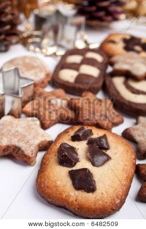 Big Pile Of Various Christmas Cookies