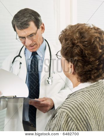 Doctor Discussing Findings With Patient