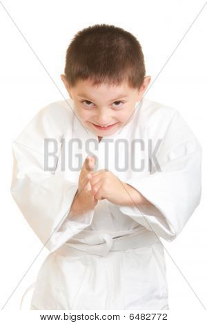 Funny Karate Kid Makes A Bow