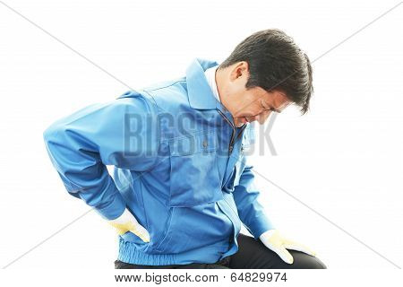 Worker having back pain