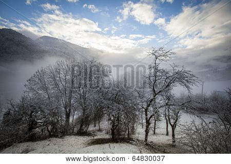 Winter french alps