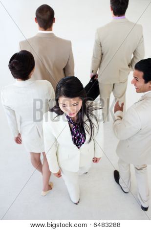 Asian Businesswoman In A Business Building
