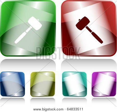 Mallet. Internet buttons. Vector illustration.