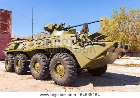 Samara, Russia - May 8, 2014: Russian Army Btr-82 Wheeled Armoured Vehicle Personnel Carrier