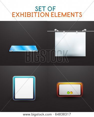 Exhibition vector design collection. For promotion of your product