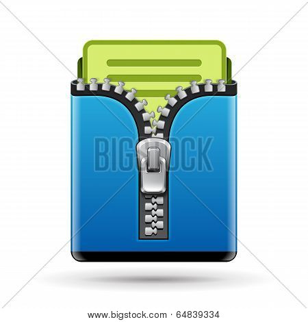 Folder icon isolated on white