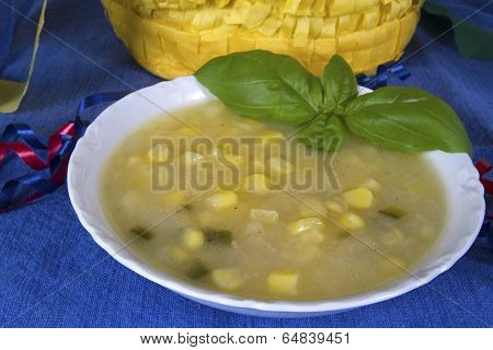 Southwestern Potato and Corn Soup