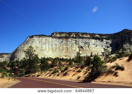 Mountain With Cross Current Layers Of Colored Sandstone