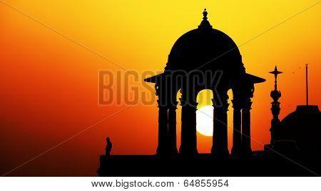 Indian Government buildings, Raj Path, New Delhi, India
