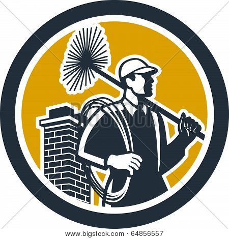 Chimney Sweeper Worker Retro