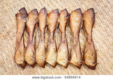 Crispy Smoke Dried Siamese Mud Carp Fish