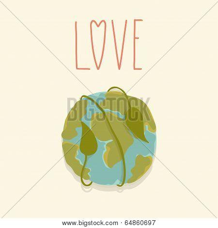 Earth day card template