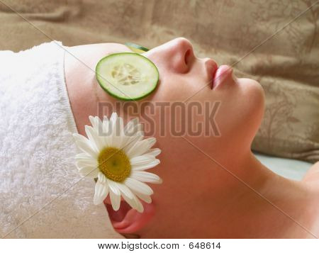 Woman Relaxing Spa
