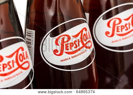 Retro Pepsi Bottle Close Up