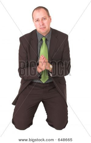 Begging Businessman