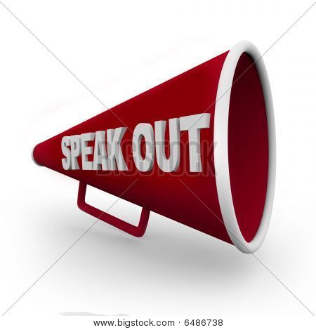 Speak Out - Red Bullhorn