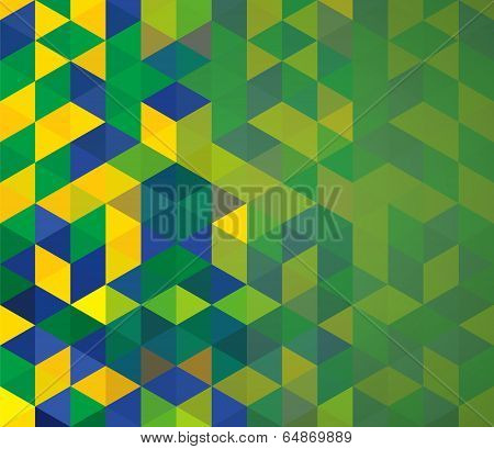 Abstract Geometric Brazil Flag