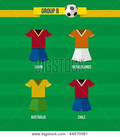 Brazil Soccer Championship 2014 Group B Team