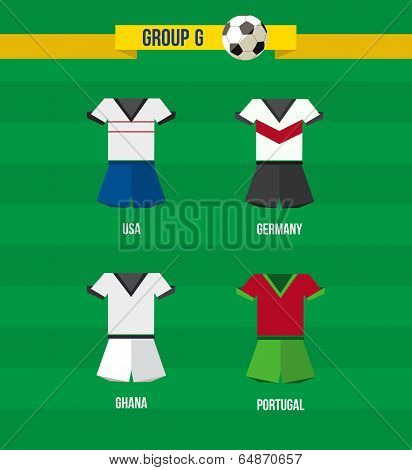 Brazil Soccer Championship 2014 Group G Team