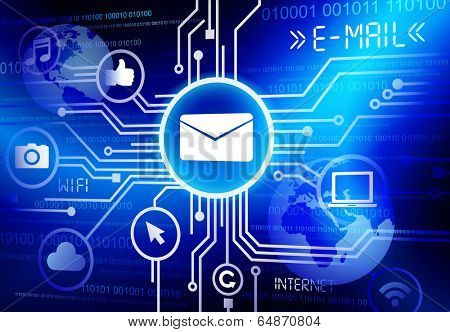 Concept of e-mail as an information medium.