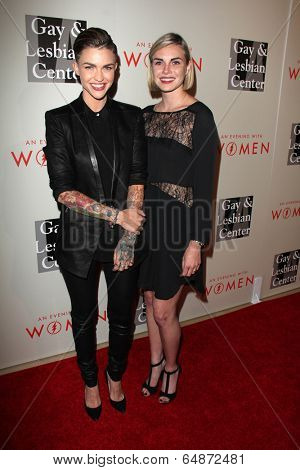 LOS ANGELES - MAY 10:  Ruby Rose, Phoebe Dahl at the L.A. Gay & Lesbian Center's
