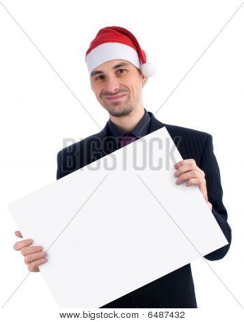 Businessman In A Christmas Hat