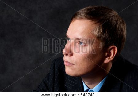 Thinking Young Business Man