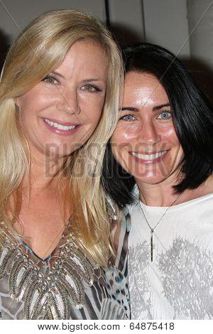 LOS ANGELES - MAY 6:  Kathering Kelly Lang, Rena Sofer at the Bold & Beautiful Celebrates Emmy Nominations at CBS Television City on May 6, 2014 in Los Angeles, CA