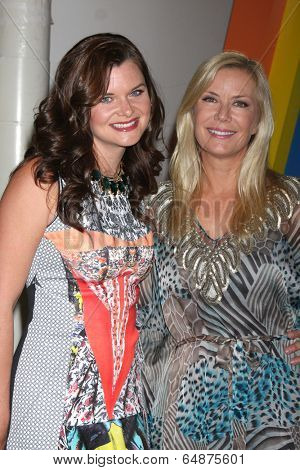 LOS ANGELES - MAY 6:  Heather Tom, Katherine Kelly Lang at the Bold & Beautiful Celebrates Emmy Nominations at CBS Television City on May 6, 2014 in Los Angeles, CA