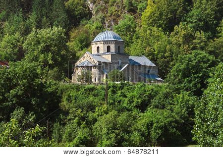 Gradac Monastery at the edge of the forested slopes Golija, Serbia