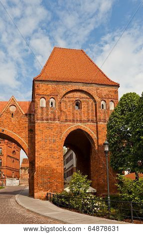 Gdanisko Tower (xiv C.) Of Teutonic Order Castle. Torun, Poland