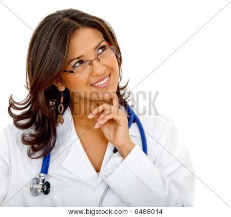 Pensive Female Doctor