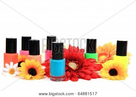 Nail Polish Isolated On The White
