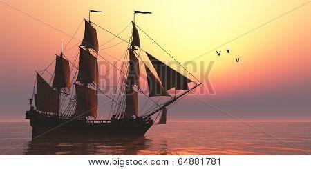 Medusa Sailing Ship