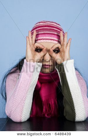 Woman With Cap Looking