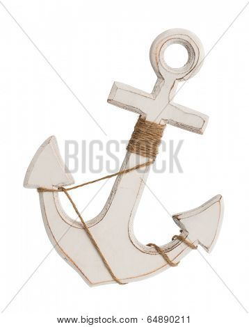 Nautical anchor isolated on a white background