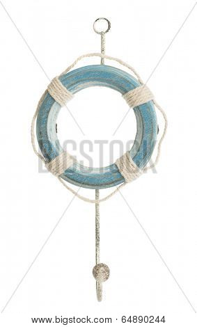 Blue bouy hanger isolated on a white background