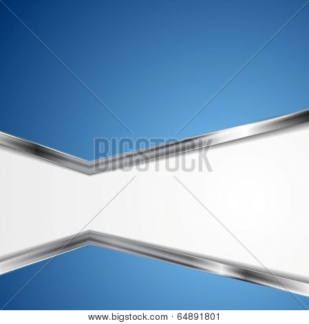 Abstract vector background with metallic silver stripes