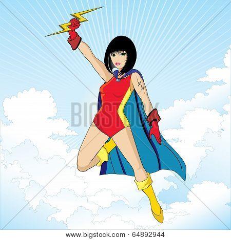 Super heroine character vector