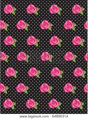 Rose Flower Pattern Dots