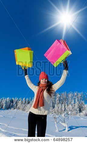 Midwinter Joy Enjoying the Snow