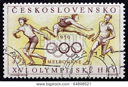 Postage Stamp Czechoslovakia 1956 Summer Olympics, Melbourne, 19