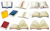 stock photo of storybook  - Illustration of the empty books on a white background - JPG
